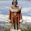 Senior chukchi woman — Stock Photo