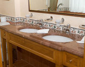 Fragment of bathroom in the hotel — Stock Photo