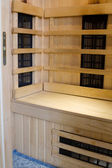 Interior of infrared sauna close up — Stock Photo