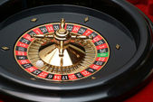 Roulette wheel (casino attribute) close up — Stock Photo