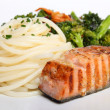 Stock Photo: Salmon and vegetables