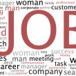 Job search wordcloud - Stock Photo