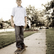 Boy On His Skateboard — Stock Photo #6767049
