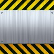Royalty-Free Stock Photo: Hazard Stripes Brushed Metal