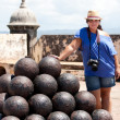 El Morro Fort Canon Balls — Stock Photo