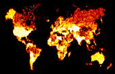 Fiery World Map Illustration — Stock Photo
