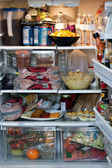 Fully Stocked Refrigerator — Stock Photo