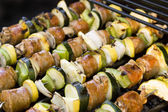 Shish Kebabs on the Grill — Stockfoto