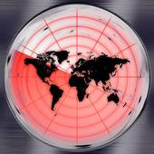 World Radar Screen — Stock Photo