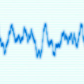 Blue Waveform — Stock Photo