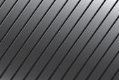 Silver Grooved Metal — Stock Photo