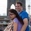 Happy Couple Visiting Brooklyn New York — Stock Photo