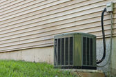 Residential Central Air Conditioner Unit — Stock Photo