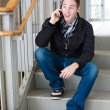 Cool Guy Talks on His Cell Phone — Stock Photo