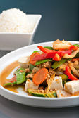 Thai Food Stir Fry with Jasmine Rice — Stock Photo