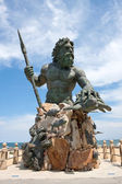 King Neptune Monument In Virginia Beach — 图库照片
