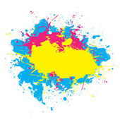 Colorful Splattered Paint — Stock Vector