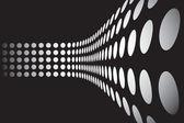 3D Dots Wall Layout — Stock Vector