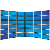 Wall of Widescreen HDTVs — Stock Vector
