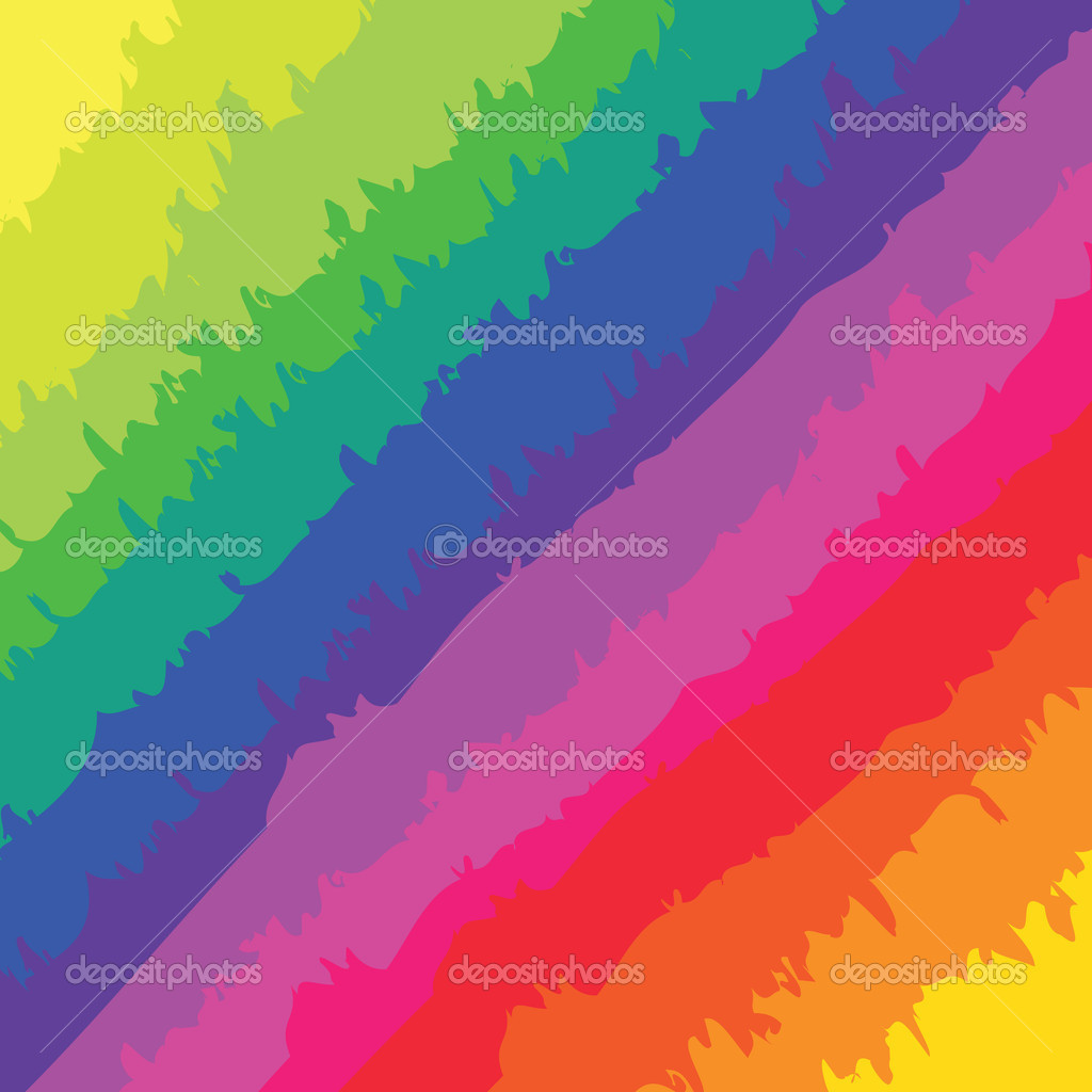 A rainbow colored pattern with rough brush marks. — Stock Vector #7370933