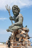 Giant King Neptune Statue in VA Beach — Stock Photo