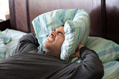 Man Having Trouble Sleeping — Stock Photo