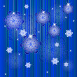 Winter background with snowflakes — Imagen vectorial
