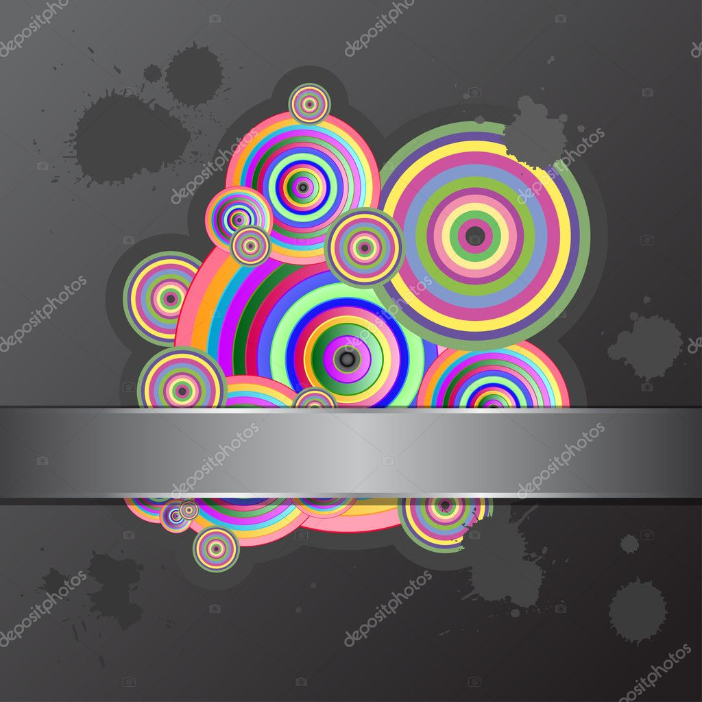 Abstract background with colorful circles. Vector illustration, eps10. — Stock Vector #6865902