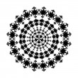 Black and white ornament — Imagen vectorial