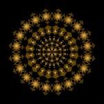 Golden circle ornament — Stock Vector