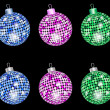 Stock Vector: Christmas shiny balls