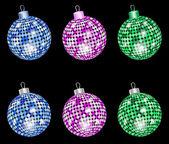 Christmas shiny balls — Stock Vector