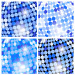 Abstract blue backgrounds with circles — Stock Vector