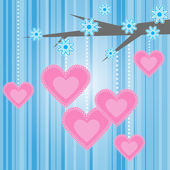 Love heart tree background — Stock Vector