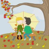 Sweet autumn — Stock Vector
