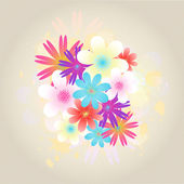 Bright colored flowers — Stock Vector