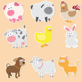 Farm animals — Vetorial Stock