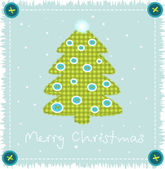 Christmas tree made of cloth — Stock Vector
