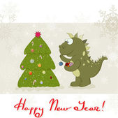 New Year`s Dragon — Stock Vector