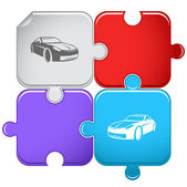 Car. Vector puzzle — Stock Vector