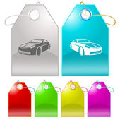 Car. Vector tags. — Stock Vector