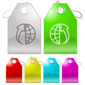 Globe and array up — Stock Vector
