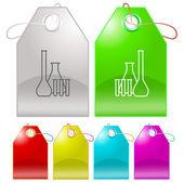 Kemiska provrör — Stockvektor