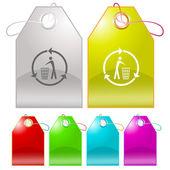 Recycling bin — Wektor stockowy