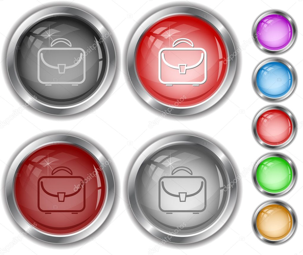 Briefcase. internet buttons. — Stock Vector #6758448