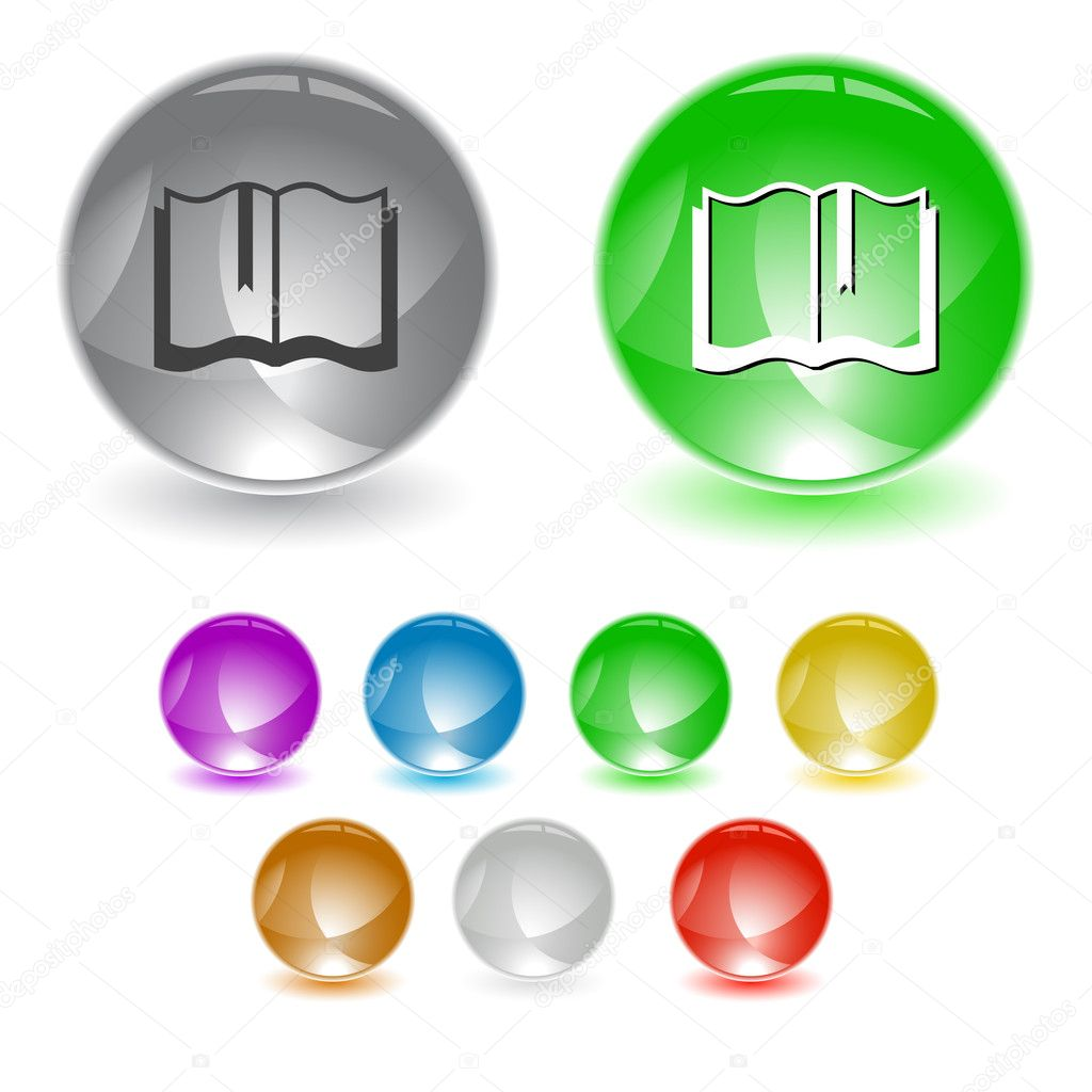 Book. Vector interface element. — Stockvektor #6758814