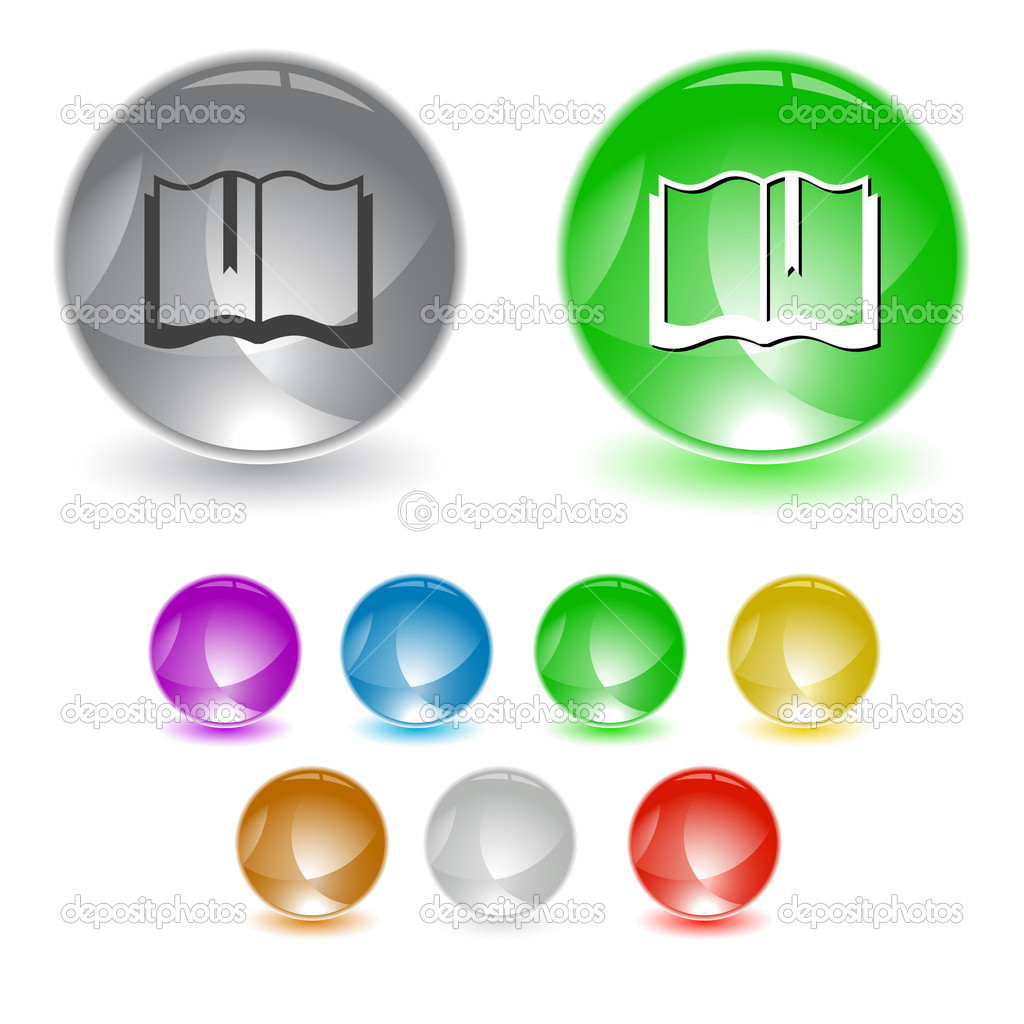 Book. Vector interface element. — Imagen vectorial #6758814
