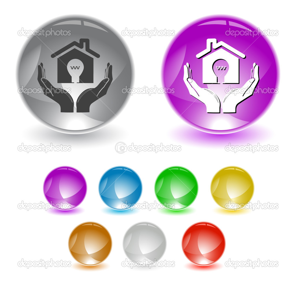 Economy in hands. Vector interface element.  Stock Vector #6758938