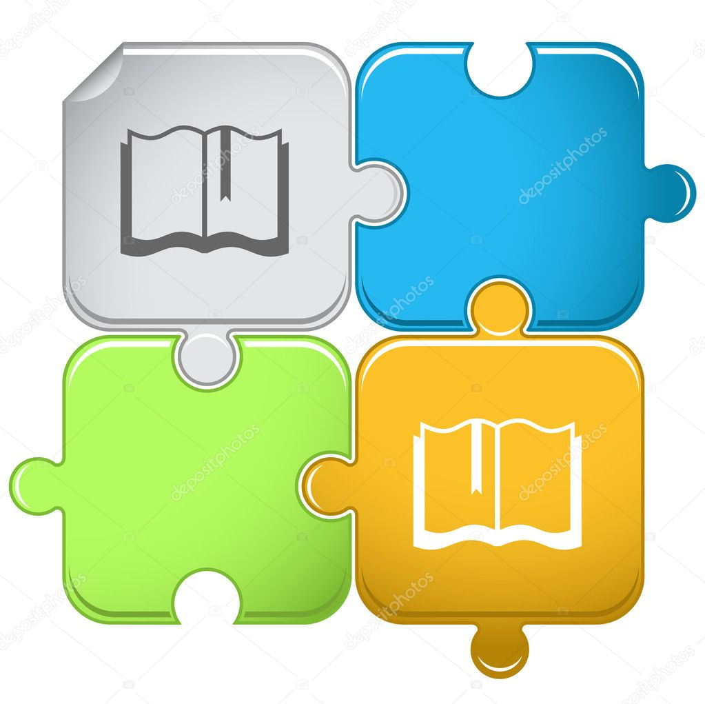 Book. Vector puzzle.  Stock Vector #6759367