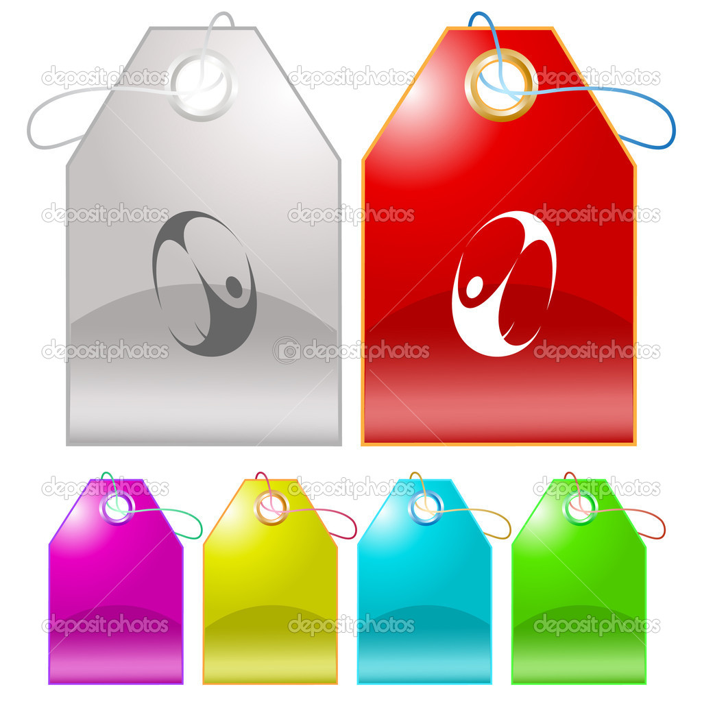Skydiver. Vector tags. — Stock Vector #6759672